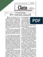Clarin Editorial Festejo Proceso