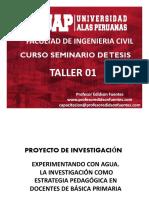 Taller 01 -- Seminario de Tesis 2018