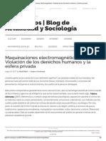 Maquinaciones Electromagnéticas_ Violación de Los Derechos Humanos y La Esfera Privada