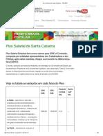 Piso Salarial de Santa Catarina - FECESC