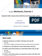 Orbit Mechanics Exercise 1