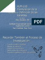 Profesor Rondon Tema 5 Formulacion de Hipotesis