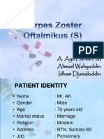 Lapsus / Lapkas / Case report / Referat MATA - Herpes Zoster Oftalmika