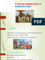 Literatura Hispanoamericana - El Romanticismo
