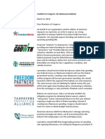 No Obamacare Bailouts Coalition Letter