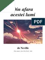 Neville Goddard Din Afara Acestei Lumi