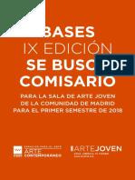 Bases 'Se Busca Comisario Para 2018'
