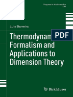 Thermodynamic Formalism and Applications to Dimension Theory - Luis Barreira
