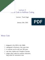 Morse Code to Huffman Coding