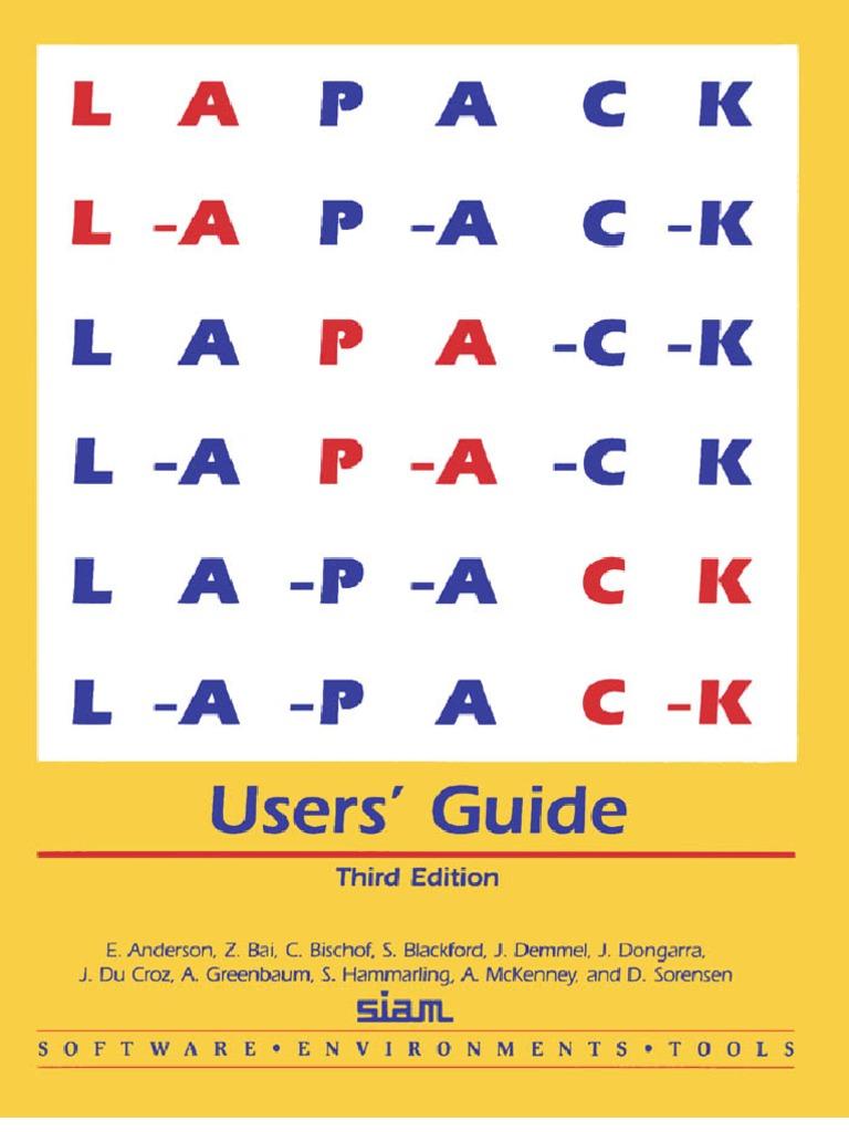 1999lapackuser'Guide | Eigenvalues And Eigenvectors | Matrix