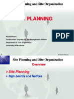 CE3142 Contract Admin 08 - Site Planning