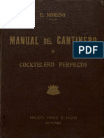 Manual Del Cantinero o Cocktelero Perfecto