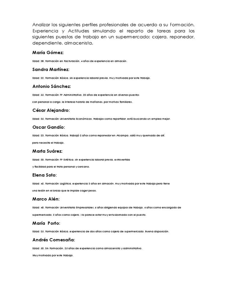 Lujoso Experiencia Laboral De Cajero Festooning - Ejemplo De ...