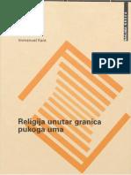 Immanuel Kant - Religija unutar granica pukog uma.pdf