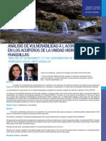ANÁLISIS DE VULNERABILIDAD A L ACONTAMINACIÓN EN LOS ACUÍFEROS DE LA UNIDAD HIDROGEOLÓGICA HUAQUILLAS