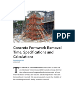 Concrete Formwork Removal Time - TheConstructor.org