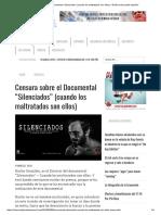 """Censura Sobre El Documental """"Silenciados"""" (Cuando Los Maltratados Son Ellos) – El Muro Del Pueblo Español"""