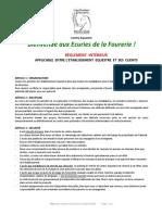 Reglement Interieur La Fourerie