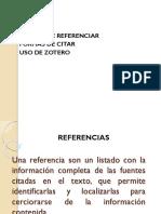 Exposicion Referenciar, Citas y El Uso Del Zotero