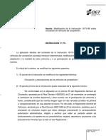 Modificación de la Instrucción 15 TV 86 Circulación de vehículos de competición 27_10_2017
