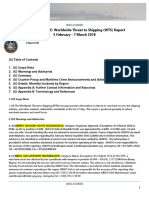 U. S. Navy Office of Naval Intelligence Worldwide Threat to Shipping (WTS) Report 5 February - 7 March 2018