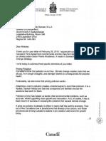Letter - Catherine McKenna to Dustin Duncan