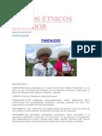 Grupos Étnicos Ecuador Panzaleos