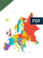 Mapa Político Europa Mudo