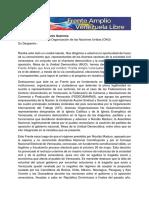Documento consignado ante la ONU por el Frente Amplio Venezuela Libre