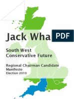 Jack Whalley Manifesto CF South-West Chairman Candidate