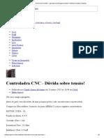 Controladra CNC - Dicas de uso