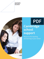Cambridge School Support v1.17