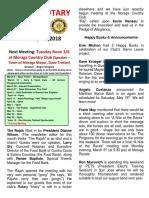 Moraga Rotary Newsletter February 27 2018