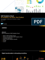 SAP Analytics Cloud Partner Enablement 27-06-2017