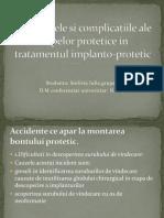 Accidentele si complicatiile ale etapelor protetice in tratamentul.ppt