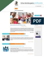 Una revista para profesores Acompañamiento