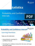 Basic Statistics 7 Probability and Confidence Intervals