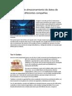 Lugares de Almacenamiento de Datos de Diferentes Compañías