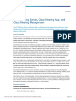 Cisco Meeting Server and Cisco Meeting App Data Sheet