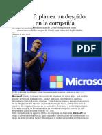 Microsoft Despidos