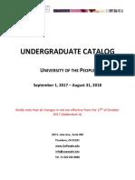 UoPeople Undergraduate Catalog AY2018 ADDENDUM A