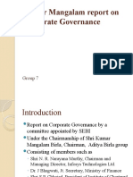 Kumar Mangalam Report on Corporate Governance