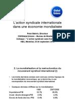 Laction Syndicale Internationale Dans Une Economie Mondialisee