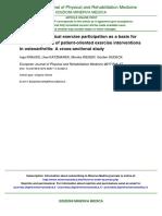 Ejercicio físico y osteoartristis