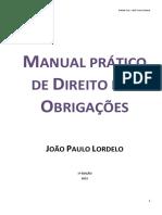 Manual Direito Das Obrigações - Lordelo