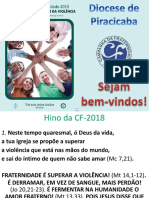 Slides Da CF-2018 Da Diocese de Piracicaba (Texto Editado)