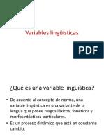 Variables Lingûìsticas
