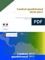 Contrat quadriennal 2010-2013