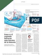 Diario La Tercera de Santiago, Chile 08-09-2017 Huracán Irma Desata Masivas Evacuaciónes en Cuba y Florida (4).