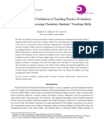 Development, Validation, Teaching Practice Evaluation Instrument